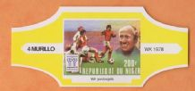 1990 World Cup Cigar Band Holland v West Germany (Yellow)